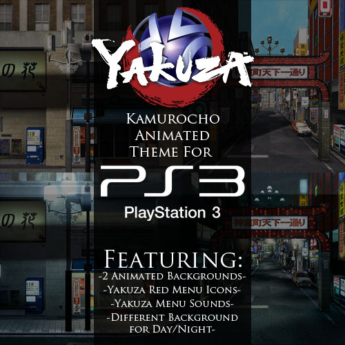Custom Yakuza animated theme for PS3!