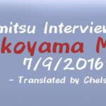 Famitsu Interview with Yokoyama Masa 7/9/2016