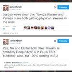 Yakuza Kiwami and Yakuza 6 getting a physical release for both NA and EU!