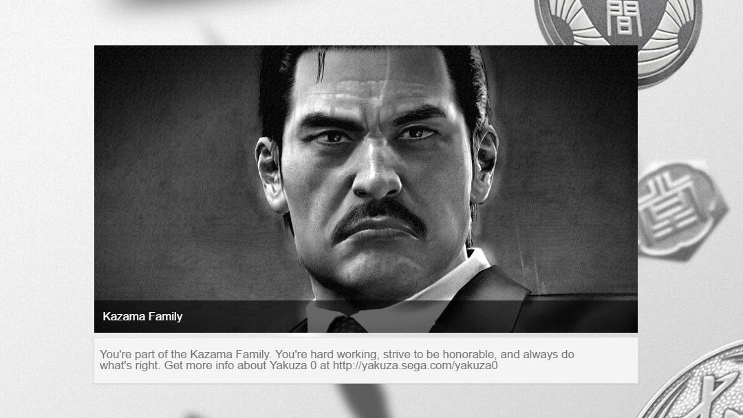 Which Yakuza family you belong to? Find out with the official Yakuza 0 quiz!